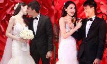 Thủy Tiên diện váy nửa tỷ đồng, hôn Công Vinh đắm đuối trong đám cưới