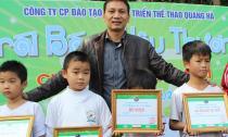 Triệu Quang Hà tổ chức giải bóng đá thiếu nhi nhằm mục đích từ thiện