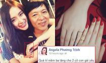 Angela Phương Trinh khoe quà kỷ niệm nhẫn vàng ba tặng hai chị em