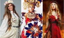 Mãn nhãn với trang phục dân tộc Hoa hậu Hoàn vũ 2014