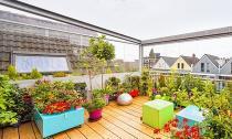 Khu vườn trên sân thượng giữa thành phố khiến hàng xóm 'phát thèm'