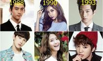 10 so sánh thú vị về tuổi của các thần tượng xứ Hàn
