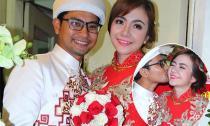 Huỳnh Đông hôn vợ tình cảm trong lễ rước dâu
