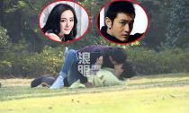 'Tóm gọn' Huỳnh Hiểu Minh say sưa hôn Dương Mịch trên bãi cỏ