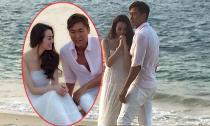 Khánh My tình tứ bên biển với sao TVB Mã Đức Chung