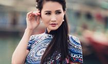 Hoa hậu Sonya Sương Đặng đẹp mơ màng giữa sóng nước Hạ Long