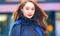 Á hậu Linh Chi thanh lịch dạo phố Seoul