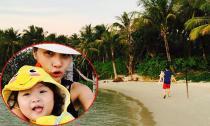 Gia đình HH Hương Giang 'trốn Tết' ở Campuchia