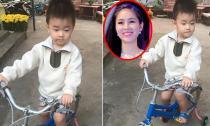 Con trai Lê Phương tập tành đi xe đạp 'siêu' dễ thương