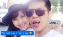Diễm Hương và chồng dành những lời ngọt ngào cho nhau