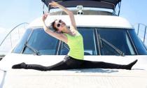 Lý Băng Băng tự tin khoe ảnh tập yoga trên du thuyền
