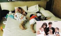 Lý Hải khoe khoảnh khắc ngủ cực dễ thương của vợ con