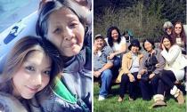 Ngọc Quyên hạnh phúc đoàn tụ đại gia đình
