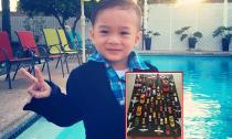 Jacky Minh Trí ra dáng hotboy nhí cạnh 'dàn siêu xe'