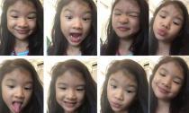 Con gái Trương Ngọc Ánh cực yêu với điệu bộ siêu hài hước