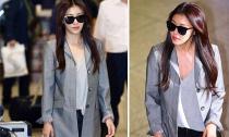 Ha Ji Won khoe style sang chảnh tại sân bay