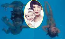 Clip con gái Xuân Lan 17 tháng đã bơi lội điêu luyện như rái cá