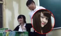 Cô giáo hotgirl bị học sinh trêu đùa đo chiều cao