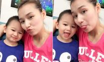 Con trai Lã Thanh Huyền càng lớn càng đẹp trai và kháu khỉnh