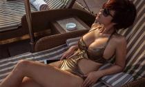 Người mẫu 'khỏa thân' Võ Thanh Thùy quyến rũ với áo tắm