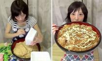 Cô gái ăn gần 4kg mỳ chỉ trong 3 phút 20 giây