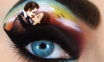 Cô gái vẽ ra tác phẩm nghệ thuật trên mí mắt
