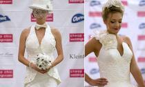 Ngỡ ngàng váy cưới làm bằng giấy vệ sinh tuyệt đẹp