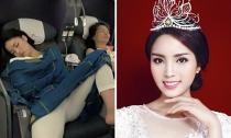 Hoa hậu Kỳ Duyên gây 'xôn xao' với tướng ngủ kém duyên