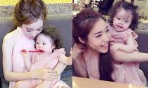 Mẹ con Elly Trần đáng yêu như hai nàng búp bê