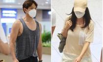 Kim Tae Hee và Rain bị 'tóm gọn' khi cùng nhau trở về Hàn