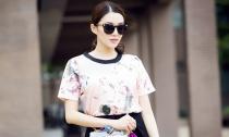 'Chân dài' Lê Hà cuốn hút với thời trang đường phố