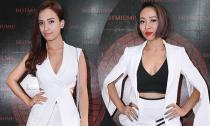 Ái Phương, Thảo Trang ăn mặc gợi cảm dự khai trương Hot Miu Miu