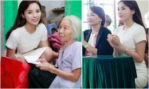 Hoa hậu Kỳ Duyên lặng lẽ về quê đi làm từ thiện