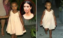 Con gái 'siêu vòng ba' Kim Kardashian càng lớn càng điệu đà