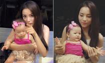 Hoa hậu Kỳ Duyên vui vẻ chơi đùa cùng con gái hot girl Mai Thỏ