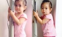 Con gái Đoan Trang cực yêu khi đi ăn tân gia cùng bố mẹ