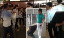 Mr. Đàm được fans chào đón rầm rộ khi bay ra Hà Nội
