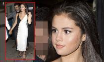 Selena Gomez diện váy 'hở trên hở dưới' khi đi ăn tối