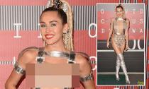Miley Cyrus nổi bật trên thảm đỏ VMAs 2015 vì trang phục 'kiệm vải'