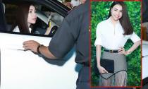 Trà Ngọc Hằng cầm lái siêu xe Range Rover tiền tỷ đi sự kiện