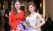 Hot girl Vy Marya đẹp rạng rỡ bên Hoa hậu Quý bà Bùi Thị Hà