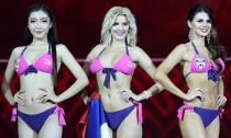 Thân hình mướt mắt của các người đẹp dự thi Hoa hậu bikini Quốc tế 2015