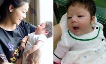 Cận khuôn mặt 'không che chắn' của quý tử nhỏ nhà Nhật Kim Anh