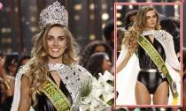 Hoa hậu Hoàn vũ Brazil 2015 mặc áo tắm đăng quang