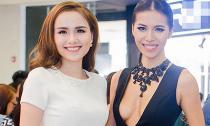 Hoa hậu Diễm Hương bình thản đi sự kiện sát giờ cưới