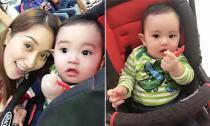 Con trai Khánh Thi - Phan Hiển mắt tròn xoe ngơ ngác khi đón bố ở sân bay