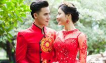 Hồ Văn Phúc - Ánh Minh lộng lẫy và sang trọng với Áo dài cưới Tommy Nguyễn