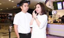 Vân Trang bụng bầu gần 4 tháng đi xem phim cùng ông xã