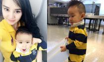 Con trai Vy Oanh 'quậy tung' sân bay