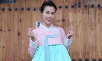 Hoàng Oanh xinh như mộng trong bộ Hanbok - trang phục truyền thống của Hàn Quốc